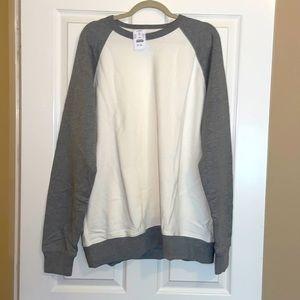 Cream and grey JCrew sweater